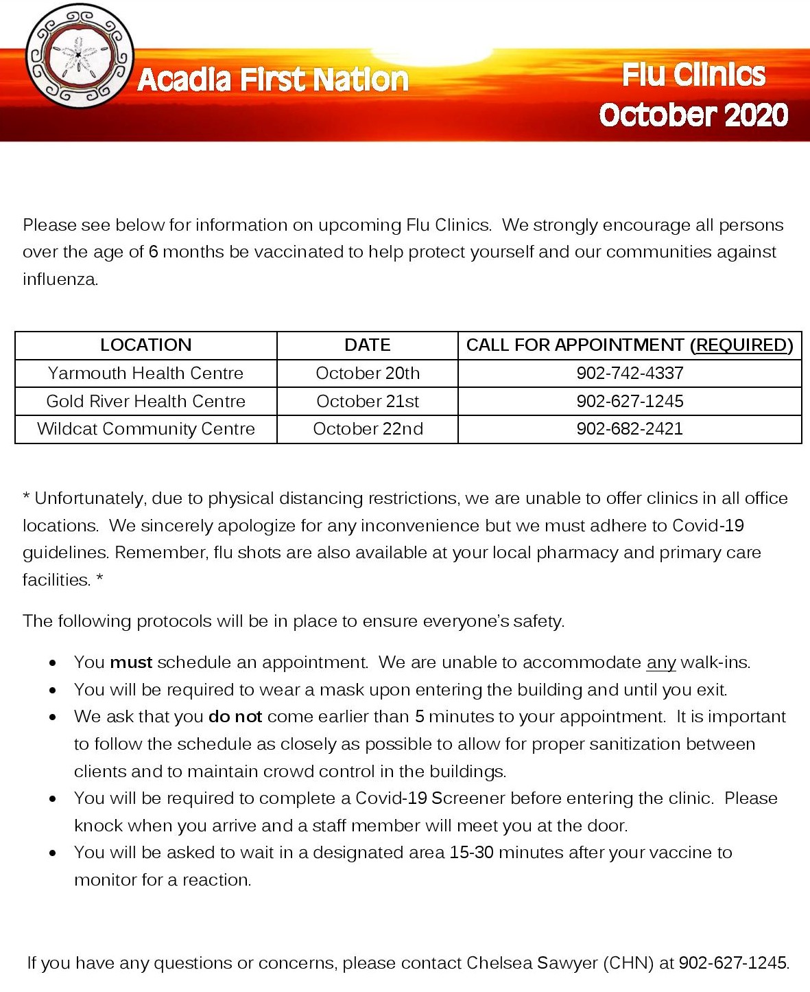 Flu Clinic Notice page 001